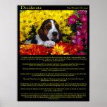 Posters del beagle de la flor de los desiderátums