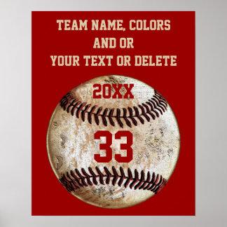 Posters del béisbol, colores del equipo, equipo,