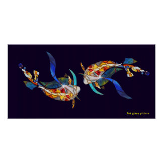 Posters del boda de los pescados de Koi del amor
