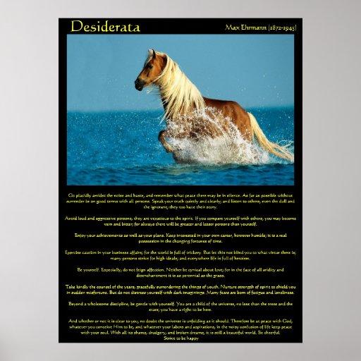 Posters del caballo del agua de los desiderátums