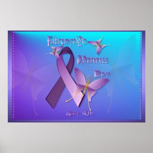 Posters del día de la conciencia del Fibromyalgia