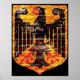 Posters del escudo de Eagle del alemán