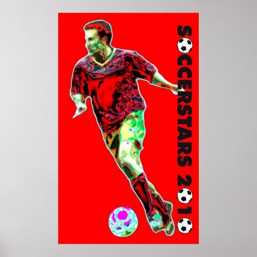 Posters del fútbol del mundial - 2010 psicodélicos