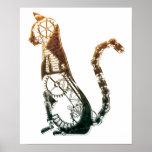 Posters del gato de Steampunk Póster