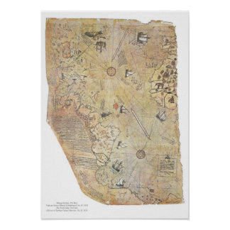 Posters del mapa del mundo de Piri Reis