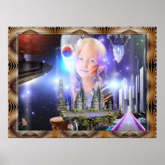 Posters del niño de la galaxia