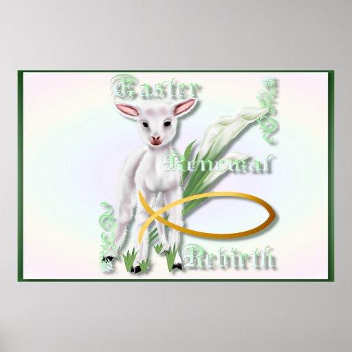 Posters del Pascua-Renovación-Renacimiento