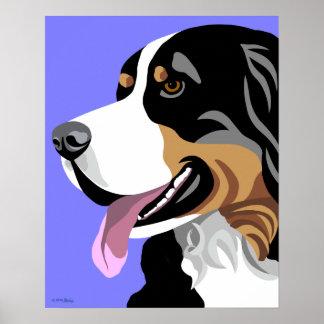 Posters del perro de montaña de Bernese