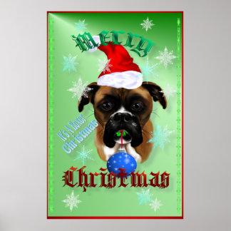 Posters del perro del boxeador del Maravilloso-Nav
