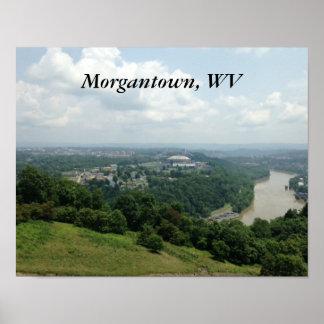 Posters del río de Morgantown WV Monongahela