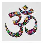Posters del símbolo de la yoga de OM Aum Namaste