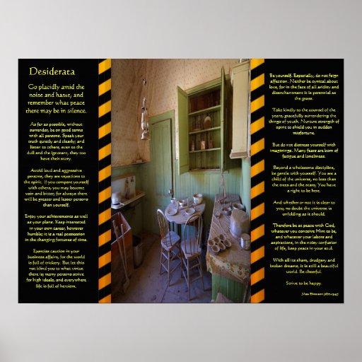 Posters del sitio del fantasma de los DESIDERÁTUMS
