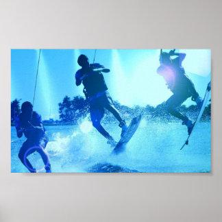 Posters del trío de Wakeboarding