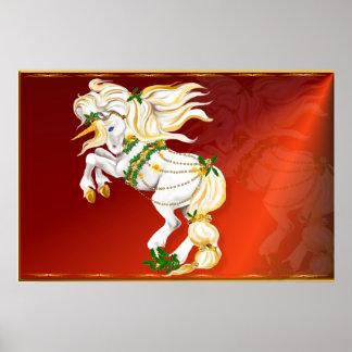 Posters del unicornio del navidad
