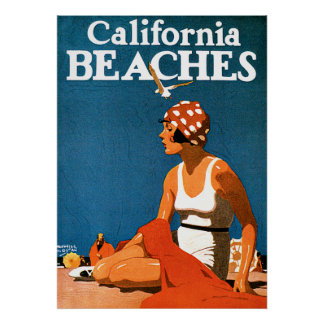 Posters del viaje del vintage de las playas de