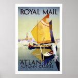 Posters del viaje del vintage de las travesías del