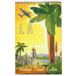 Posters del viaje internacional del ejemplo del calendario de pared