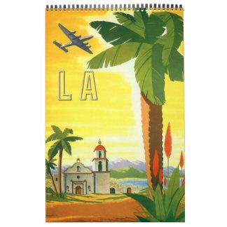 Posters del viaje internacional del vintage calendarios