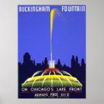Posters del vintage, fuente WPA de Chicago Bucking