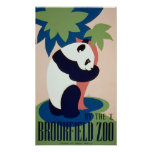 Posters del vintage, oso de panda del parque zooló