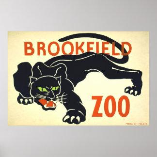 Posters del vintage, pantera negra WPA del parque