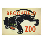 Posters del vintage, pantera negra WPA del parque  Póster