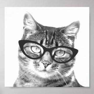 Posters divertidos de la foto del gato póster