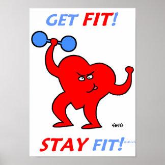 Posters divertidos de motivación para el ejercicio