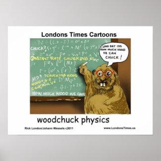 Posters divertidos del dibujo animado de la física