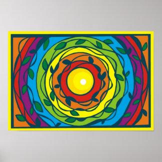 Posters e impresiones circulares frescos del arco