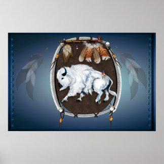 Posters Escudo-azules del búfalo blanco