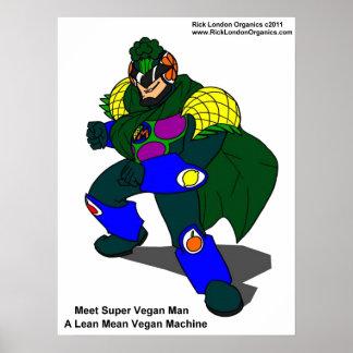 Posters estupendos del hombre del vegano (nuestra
