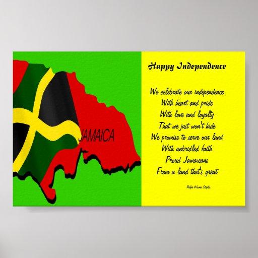 Posters felices de Jamaica de la independencia