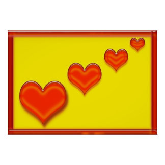 Posters felices de los corazones