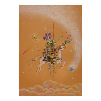 Posters, Fine Art - Carousel Jester Poster