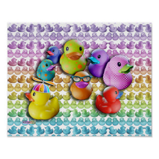 Posters & Fine Art Rubber Duckies Pop Art