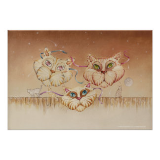 Posters, Fine Art - Tabby Road (cats) Poster