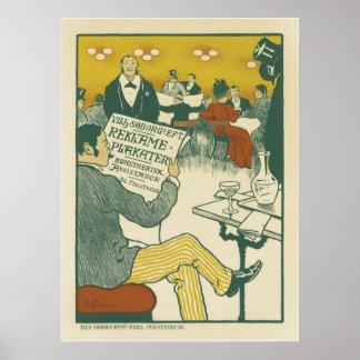 Posters franceses del vintage - el club de los cab póster