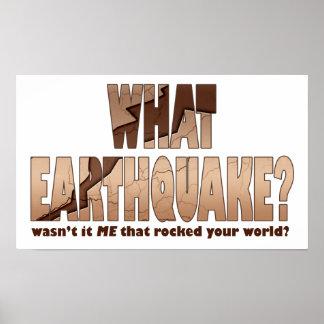 ¿Posters, impresiones, arte - qué terremoto? Póster