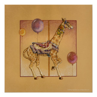 Posters, impresiones - jirafa del carrusel