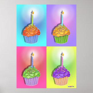 Posters, impresiones - magdalenas del cumpleaños