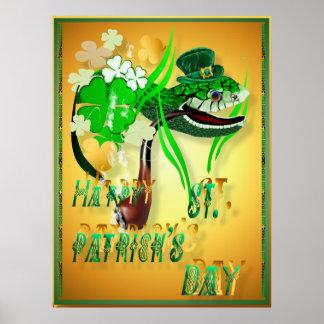 Posters irlandeses de los deseos de la serpiente y