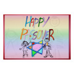 Posters muy coloridos de un Passover
