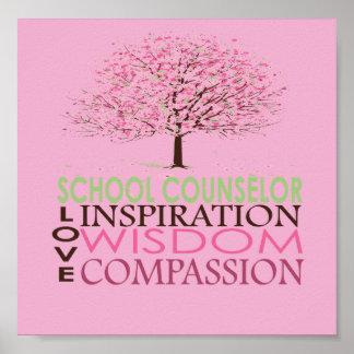 Posters personalizados del consejero de la escuela