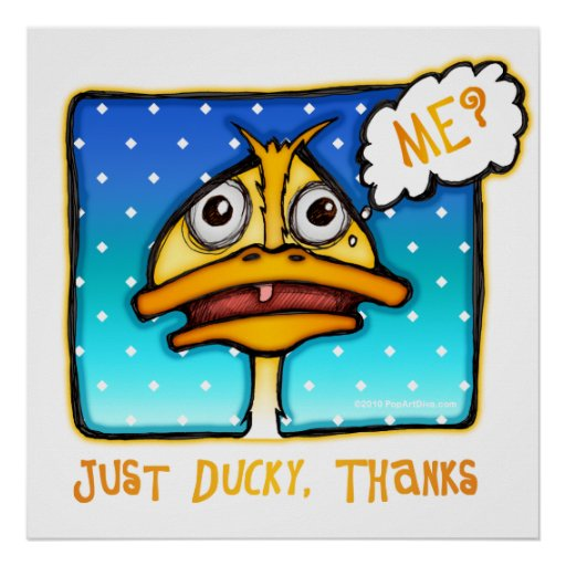 Posters, Prints, Art - Just DUCKY Thanks
