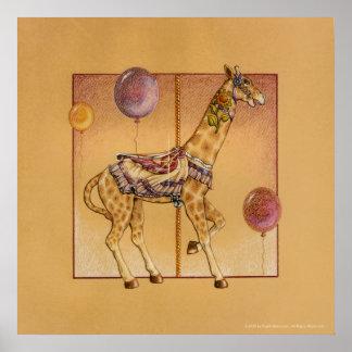 Posters, Prints - Carousel Giraffe Poster