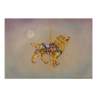Posters, Prints - Carousel Lion Poster
