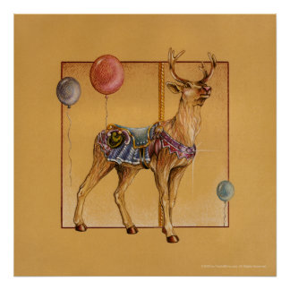 Posters, Prints - Carousel Reindeer or Elk