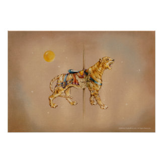 Posters, Prints - Carousel Tiger Poster
