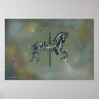 Posters, Prints - Carousel Zebra Poster
